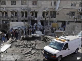Лаборатория криминалистики в Багдаде после взрыва