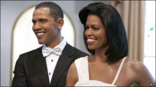 Барак и Мишель Обама, восковые фигуры