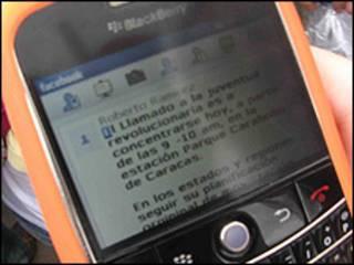 Mensaje de texto via celular