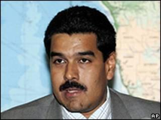 Nicolás Maduro, canciller de Venezuela.