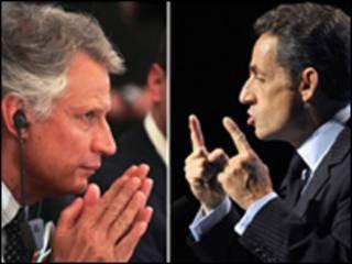 Доминик де Вильпен и Николя Саркози