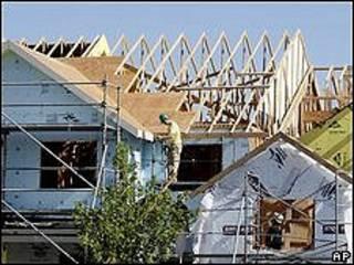 Casa en construcción en EE.UU.