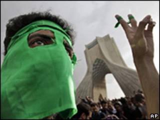 Protesta opositora en Irán