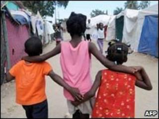 Niños en Puerto Príncipe