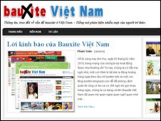 Website Bauxite Việt Nam giao diện mới