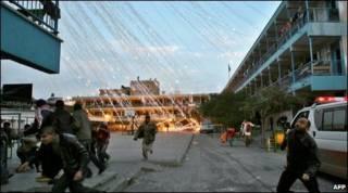 Ataque israelense em Beit Lahiya, em janeiro de 2009 (arquivo)