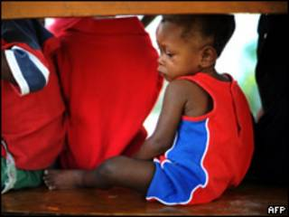 Uno de los 33 niños que iban a ser llevados a República Dominicana