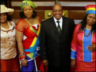 جاکوب زوما و همسرانش