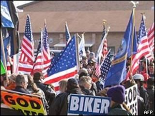 Manifestación en 2006 contra la presencia de gays en el ejército de Estados Unidos (foto archivo)