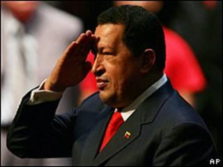 Presidente de Venezuela Hugo Chávez (foto archivo)