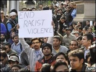Người Ấn biểu tình tại Melbourne