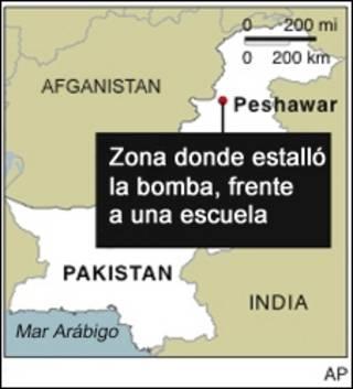 Mapa de Peshawar, Pakistán