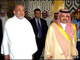 حامد کرزی و فرماندار جده