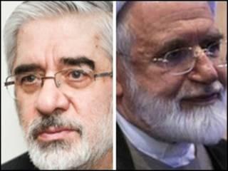 میر حسین موسوی و مهدی کروبی