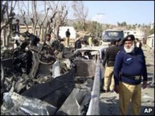 Local da última explosão na região de Dir
