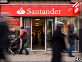 Agência do Santander em Londres