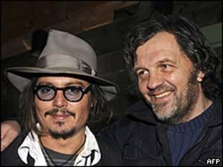 Johnny Depp y Emir Kusturica