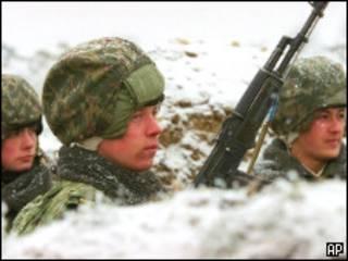 Российские войска в Чечне