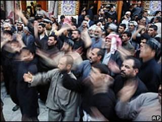 Chiítas celebran en Kerbala