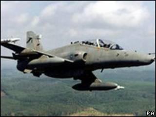 Avión Hawk, producido por BAE, firma británica acusada de sobornos.
