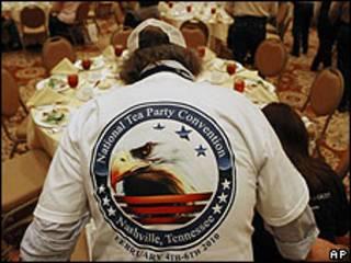 Activista del movimiento derechista Tea Party en Nashville, Tennessee, Estados Unidos.