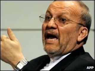 O chanceler iraniano, Manoucher Mottaki (arquivo)