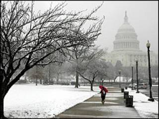 Снежные бури в Вашингтоне