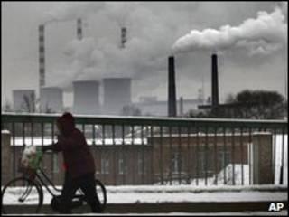 Planta de energía generada por carbón en China