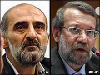 علی لاریجانی و حسین شریعتمداری