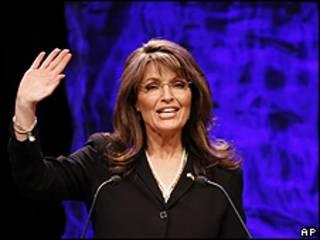 Sarah Palin, ex candidata a la vicepresidencia de Estados Unidos, en discurso ante el movimiento Tea Party