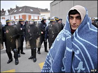 Inmigrante en Calais