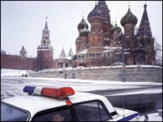 Автомобиль ДПС на Красной площади в Москве