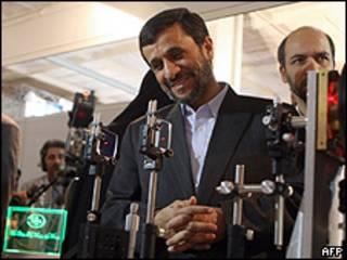 Ахмадинеджад в Натанце