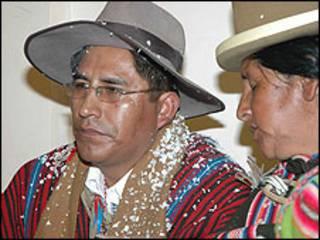 Felix Patzi, candidato a la gobernación de La Paz. Gentileza periódico La Prensa.