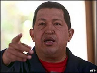 Presidente de Venezuela, Hugo Chávez.