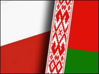 Коллаж: флаги Польши и Белоруссии