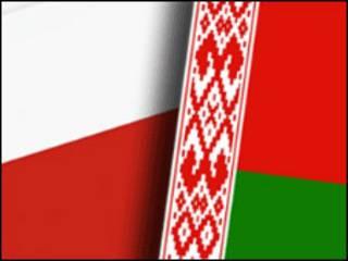 колаж прапорів Білорусі і Польщі