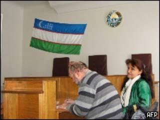 Умида Ахмедова в зале суда