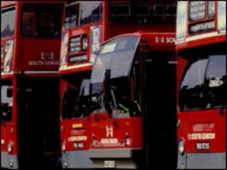 اتوبوس های دو طبقه لندن