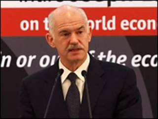 جورج باباندريو رئيس وزراء اليونان