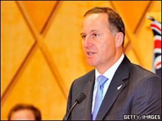 John Key, primer ministro de Nueva Zelanda