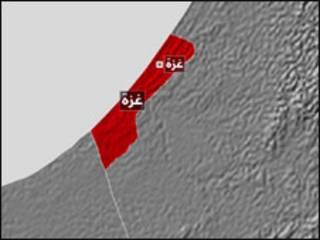 خريطة غزة