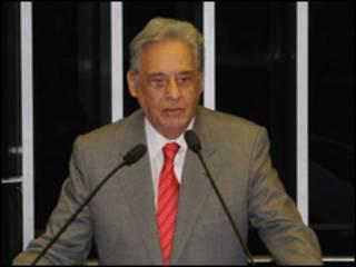 O ex-presidente Fernando Henrique Cardoso durante cerimônia no Congresso Nacional em comemoração aos 15 anos do Plano Real (Foto: Antonio Cruz/ABr/ 7 de julho de 2009)