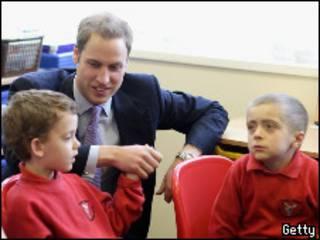 Принц Уильям со школьниками