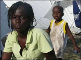 Christine, refugiada por el terremoto en Haití.