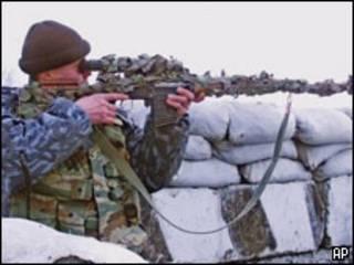 Снайпер федеральных сил в Ингушетии.