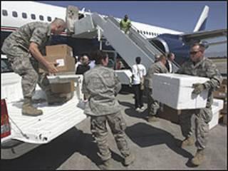 Soldados dos EUA no Haiti (Foto: UN/Sophia Paris/AFP/Getty Images)