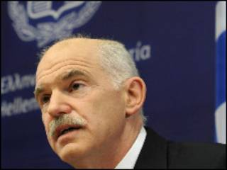 O premiê grego George Papandreou