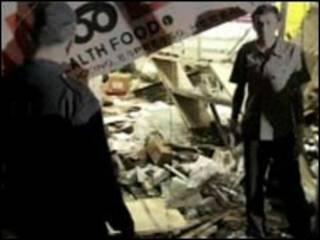 محل انفجار بمب در پونه