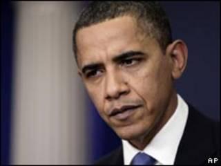 O presidente dos Estados Unidos, Barack Obama, durante entrevista coletiva em Washington (AP, 9  de fevereiro de 2010)